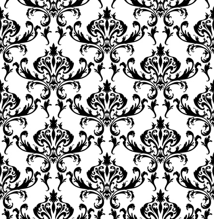 Damask seamless pattern.  For easy making seamless pattern just drag all group into swatches bar, and use it for filling any contours. Stock Vector - 16298564