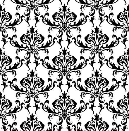 Damast nahtlose Muster. Für die einfach nahtlose Muster ziehen Sie einfach alle Gruppe in Farbfelder Bar, und verwenden Sie es zum Ausfüllen alle Konturen. Standard-Bild - 16298564
