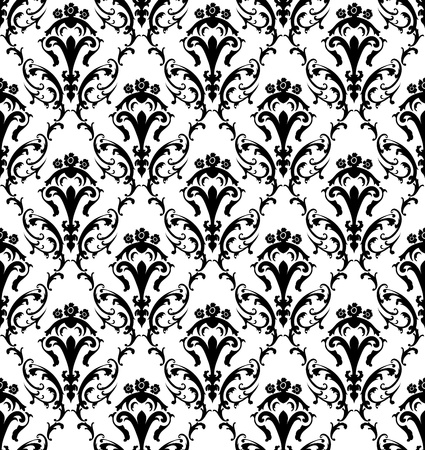 Damask seamless pattern.  For easy making seamless pattern just drag all group into swatches bar, and use it for filling any contours. Stock Vector - 16298563