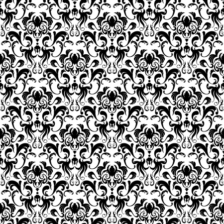 Damask seamless pattern.  For easy making seamless pattern just drag all group into swatches bar, and use it for filling any contours. Stock Vector - 16298565