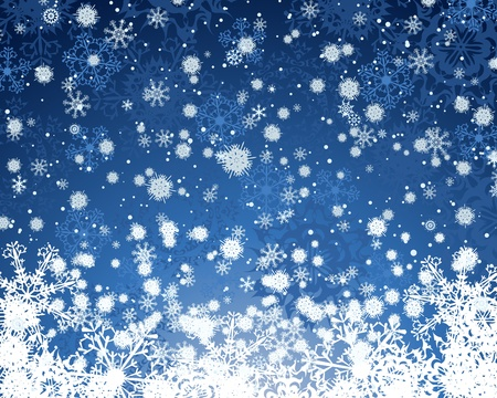 snow crystals: Wiinter background with snowflakes elements.