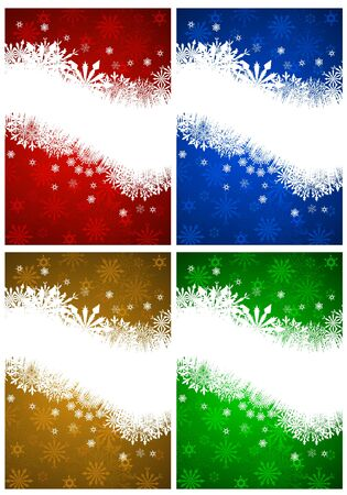 Set of Christmas card in different color. Stock Vector - 16298722