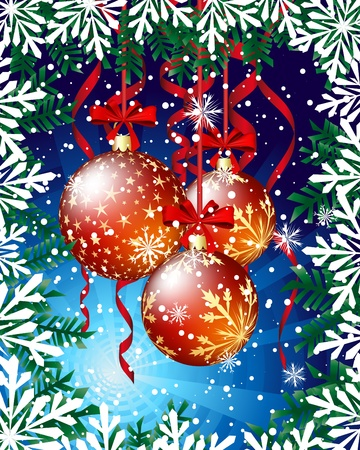 Christmas  background. illustration  with transparency and meshes. Stock Vector - 16479828