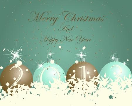 Beautiful Christmas (New Year) card. illustration Stock Vector - 16575029