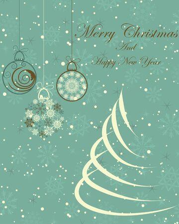 Beautiful Christmas (New Year) card. illustration Stock Vector - 16575027