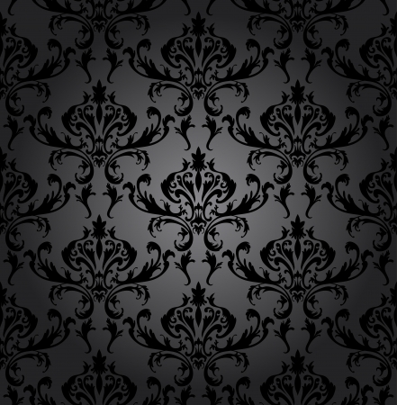 Damask seamless pattern. For easy making seamless pattern just drag all group into swatches bar, and use it for filling any contours. Fully editable illustration.