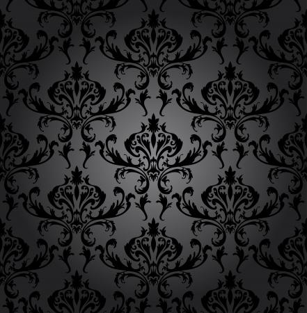 damasco: Damask seamless pattern. Para f�cil trama transparente haciendo s�lo tienes que arrastrar todo el grupo en la barra de muestras y utilizarlo para llenar cualquier contornos. Totalmente editables ilustraci�n.