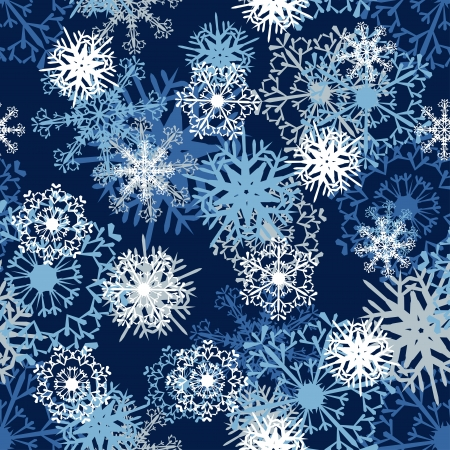 Seamless snowflake patterns. Fully editable illustration. Vector