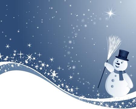 Prachtige Kerstmis (Nieuwjaar) kaart. illustratie.