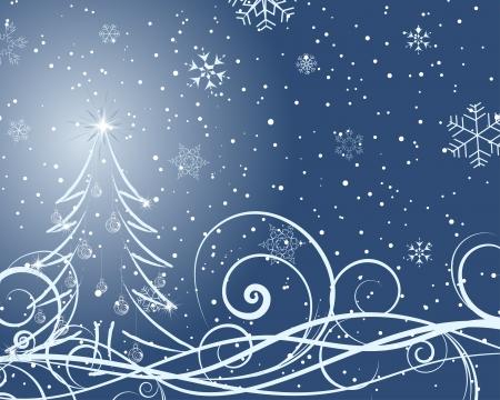 Beautiful Christmas (New Year) card. illustration. Stock Vector - 16641689