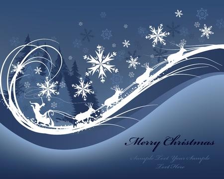 美しいクリスマス (新年) カード。メッシュの図。  イラスト・ベクター素材