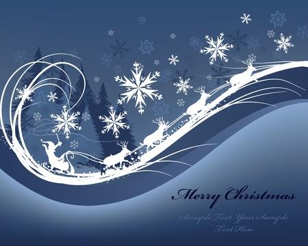 Prachtige Kerstmis (Nieuwjaar) kaart. illustratie met gaas. Stock Illustratie