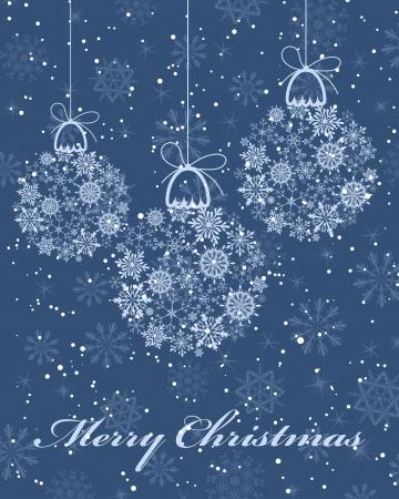 美しいクリスマス (新年) カード。イラスト。