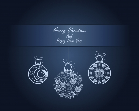 Beautiful Christmas (New Year) card. illustration with transparency Stock Vector - 16641705