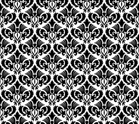 Damask seamless pattern.  For easy making seamless pattern just drag all group into swatches bar, and use it for filling any contours. Stock Vector - 16641667