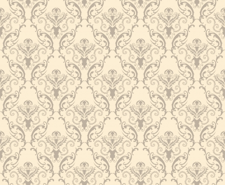 ダマスク織のシームレスなパターン。ちょうど簡単の作るシームレスなパターンのスウォッチ バーにすべてのグループをドラッグし、任意の輪郭を  イラスト・ベクター素材