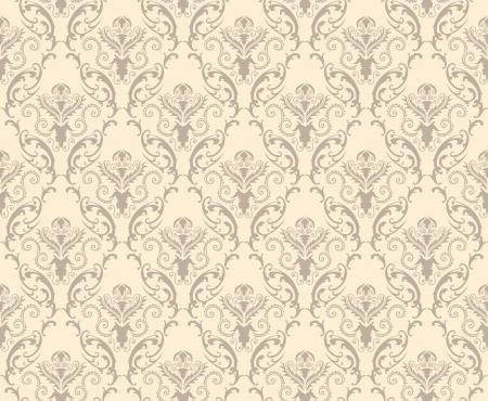 Damask naadloze patroon. Voor gemakkelijk maken naadloze patroon gewoon slepen alle groep in stalen balk, en gebruik het voor het vullen van alle contouren.