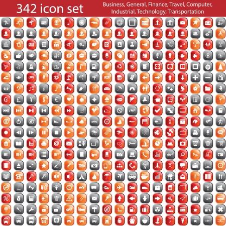 Größte Sammlung von verschiedenen Icons. Abbildung. Standard-Bild - 16841160