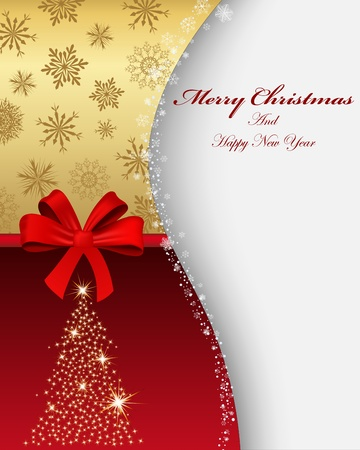 Beautiful Christmas (New Year) card. illustration with mesh. Stock Vector - 16841267