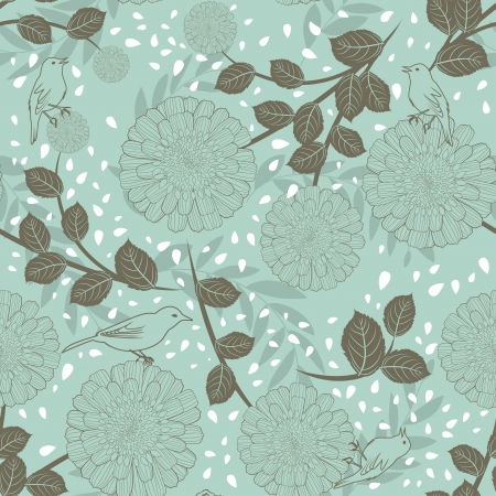 group pattern: Seamless vector floral pattern. For easy making seamless pattern just drag all group into swatches bar, and use it for filling any contours. Illustration