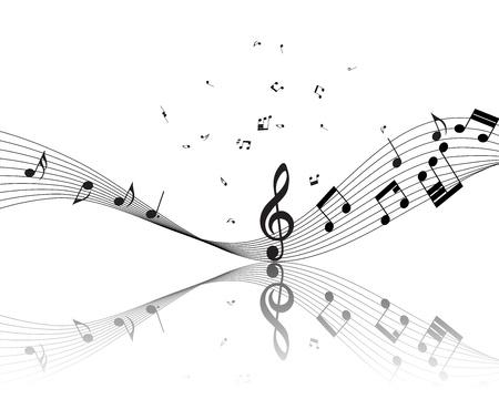 Muzikale noot personeel. Vector afbeelding zonder transparantie effect.