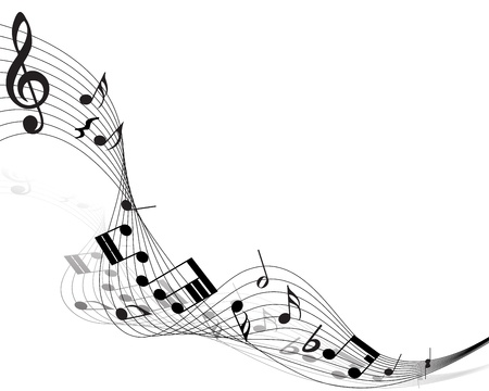 music staff: Musical note staff. Vector illustration without transparency effect.