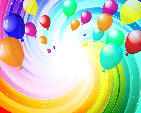 carnival background: Color balloons in the air. EPS 10 vector illustration with transparency. Illustration