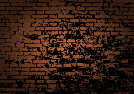 brickwork: Grunge color brick wall background. Vector illustration with transparency.