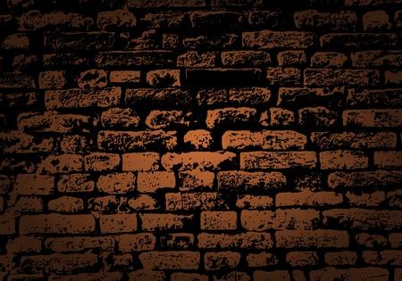 paredes de ladrillos: Grunge color de fondo de la pared de ladrillo. Ilustraci?el vector con la transparencia. Vectores