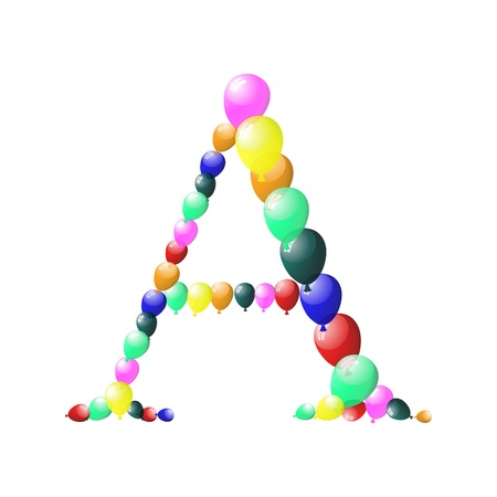 Color balloon alphabets letter. EPS 10 vector illustration with transparency. Stock Vector - 19881347
