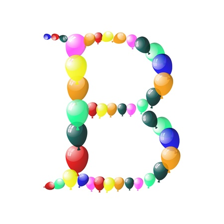 Color balloon alphabets letter. EPS 10 vector illustration with transparency. Vector