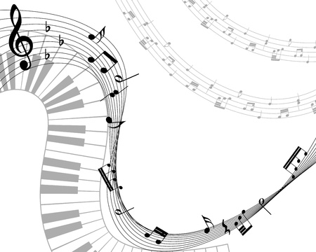 minim: Musical note staff illustration without transparency