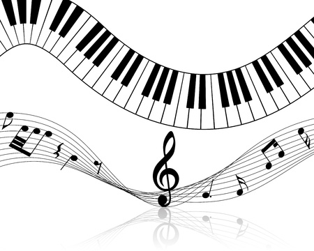 Musical note staff illustration without transparency