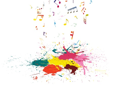 Muzikale grunge achtergrond. illustratie wthout transparantie. Stock Illustratie
