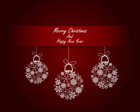 xmas decoration: Christmas and New Year background. Illustration