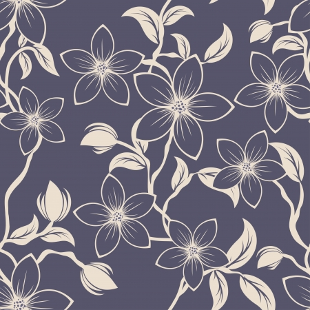 Seamless floral pattern. For easy making seamless pattern just drag all group into swatches bar, and use it for filling any contours.