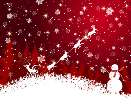 Christmas background illustration  with transparency and meshes  Vector