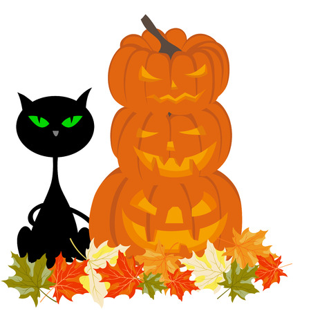 31: Happy halloween theme greeting card illustration.