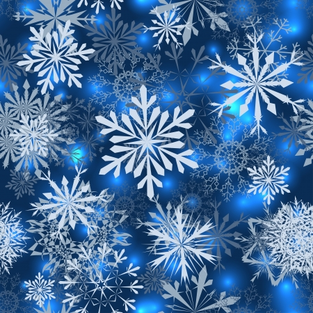 Seamless snowflake patterns. Fully editable vector illustration with transparency. Vectores