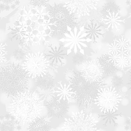 Seamless snowflake patterns. Fully editable  vector illustration with transparency.