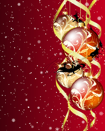 Christmas  background. EPS 10 Vector illustration  with transparency and meshes. Vector