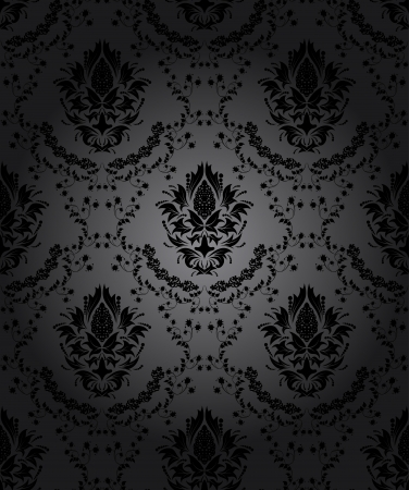 any: Damask seamless vector pattern.  For easy making seamless pattern just drag all group into swatches bar, and use it for filling any contours. Illustration