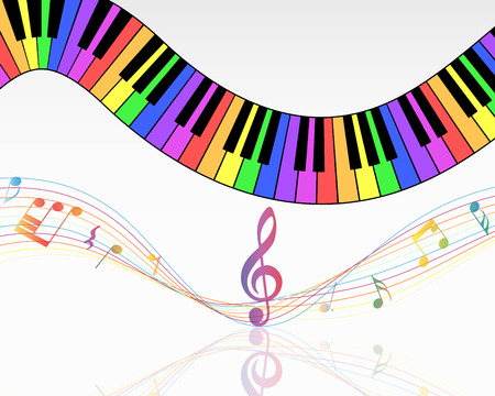 Musical note staff background. Vector illustration  with transparency.