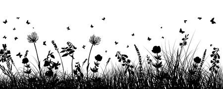 Sommerwiese Hintergrund. EPS 10 Vektor-Illustration ohne Transparenz und ohne Maschen. Standard-Bild - 27515732