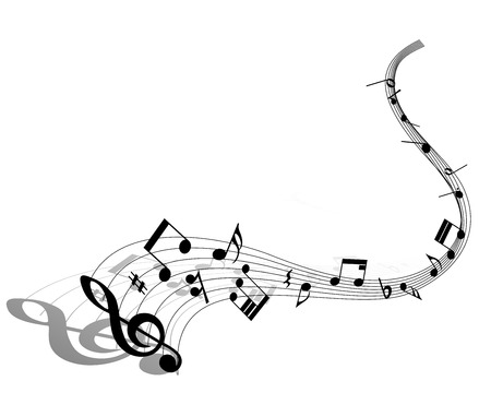 music sheet: Musical note staff. EPS 10 vector illustration without transparency. Illustration