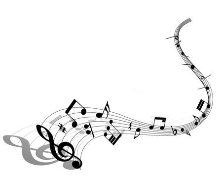 pentagrama musical: Personal de la nota musical. EPS 10 ilustraci�n vectorial sin transparencia.
