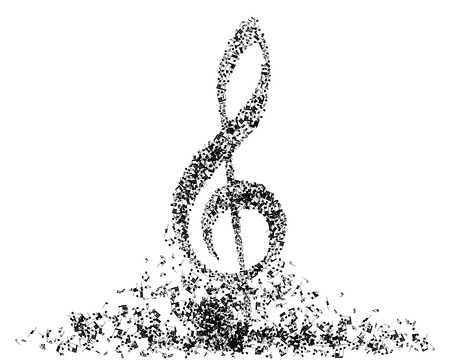 Musical note staff. EPS 10 vector illustration without transparency. Illustration