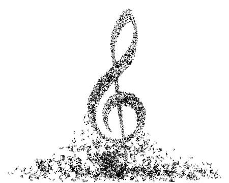 Muzikale noot personeel. EPS 10 vector illustratie zonder transparantie. Stock Illustratie