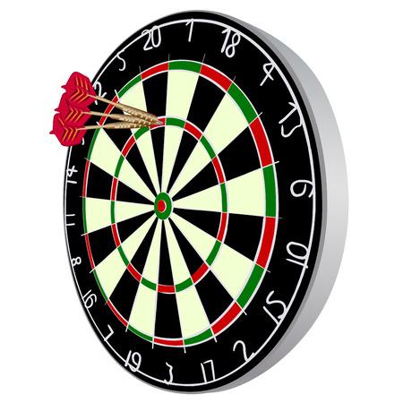 dart on target: Darts aim.  Illustration