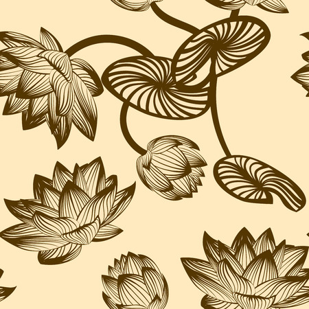 Seamless vector floral pattern.  For easy making seamless pattern just drag all group into swatches bar, and use it for filling any contours  Vector